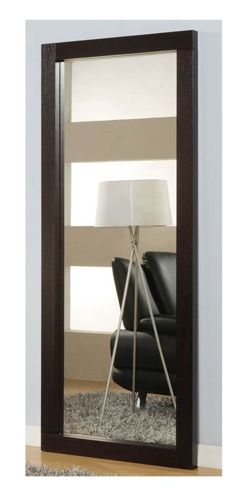 Global Furniture USA Vertical Floor Mirror w Wenge Finish Wood Frame - G020 - Wood Paper Veneer over Medium Density Fiberboard with a Lacquer Finish - mirrors-bedroom-decor, bedroom-decor, bedroom - 51EKgb7USxL -