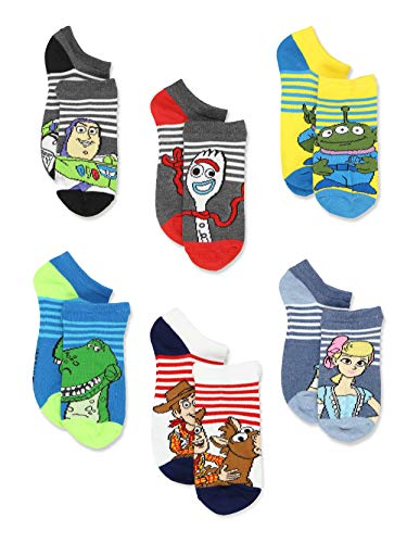 Disney Toy Story 4 Toddler Teen Boy's Girl's Adults 6 pack Sock Set (9-11 Womens (Shoe: 4-10), White/Multi)