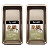 MyLifeUNIT Non-Stick Loaf Pan for Baking, Medium Bread Loaf Baking Pans for Toast (Set of 2)