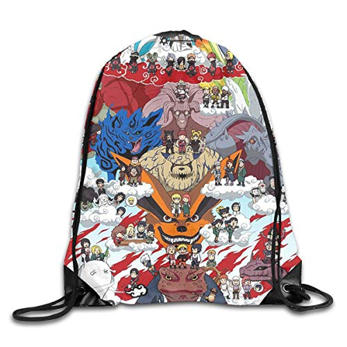 MPJTJGWZ Drawstring Bag-Naruto Family Print Shoulder Bags Sackpack Sport Gym Backpack Storage -