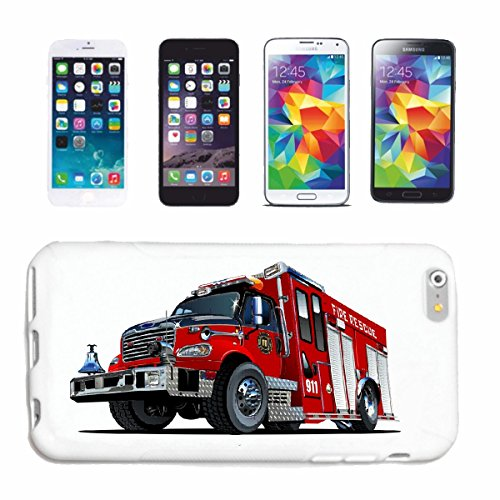caja del teléfono iPhone 6+ Plus BOMBEROS DEPÓSITO DE BOMBEROS DE BOMBEROS DE FUEGO DE USO DEL MOTOR DEL VEHÍCULO VOLUNTARIA del bombero del bombero MUJER DE NEGOCIOS DE BOMBEROS DE AMERICA EE.UU. WO