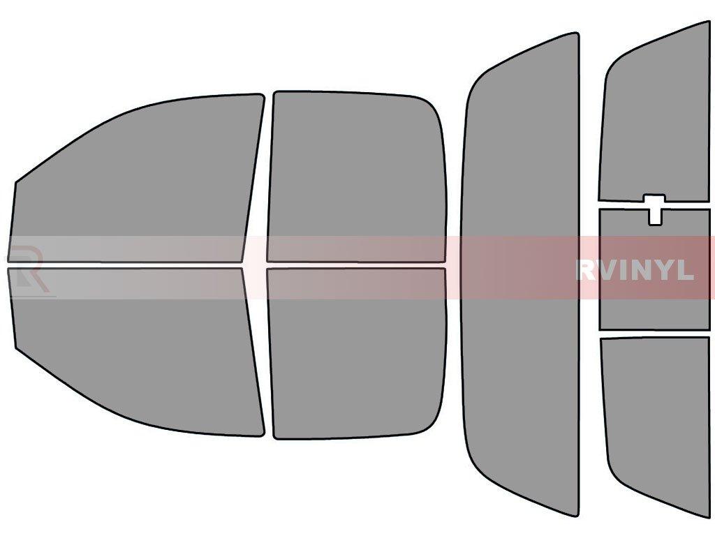 - Front Kit Rtint Window Tint Kit for Dodge Ram 2002-2008 4 Door 5/%