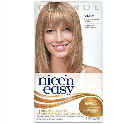 Clairol Nice 'n Easy Hair Color, Natural Light Ash Blonde (102), 2 pk