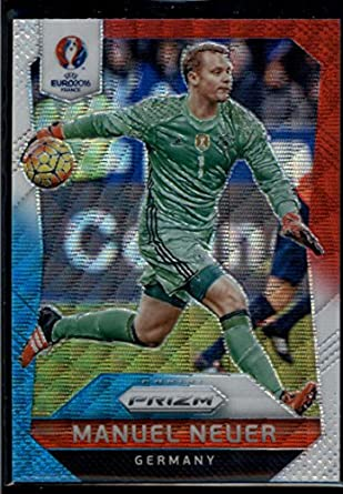 ae31c531a32 Manuel Neuer 2016 Panini UEFA Euro Prizm Red and Light Blue Prizms  44 Mint  Soccer