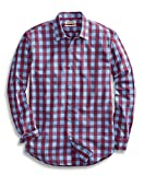 Goodthreads Men's Standard-Fit Long-Sleeve Large Check Shirt, Blue/Burgundy, Large