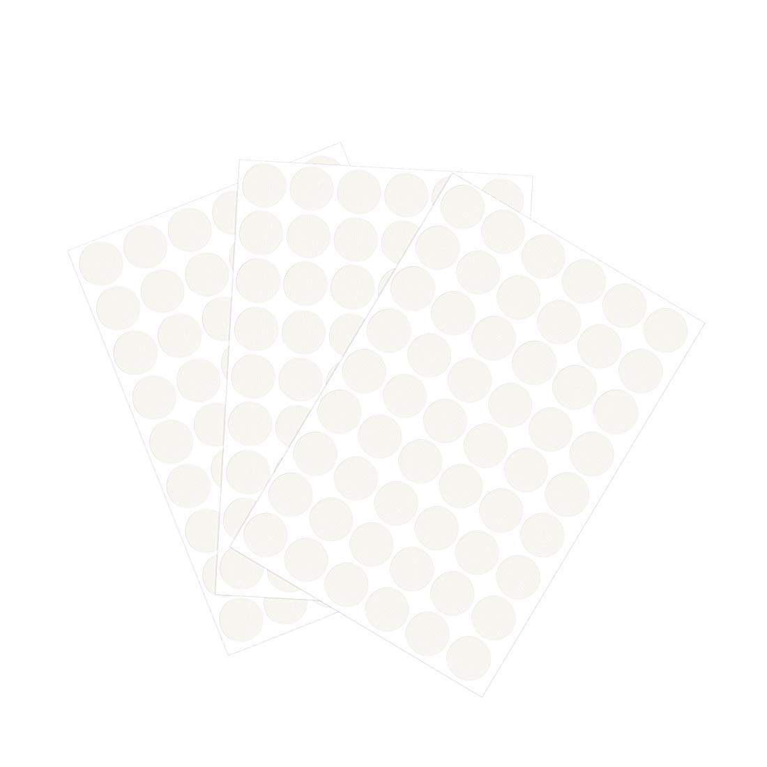 uxcell Screw Hole Covers Stickers Textured Plastic Self Adhesive Stickers for Wood Furniture Cabinet Shelve Plate 21mm Dia 162pcs in 3Sheet White Lines