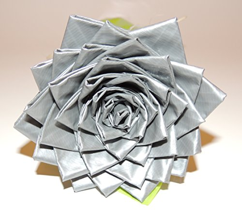 Premium Single Large Silver Duct Tape Flower/Rose. Unique Gift Idea For HIM/HER!