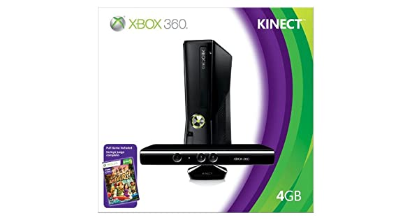 Amazon com: Xbox 360 4GB Console with Kinect: Unknown: Video Games
