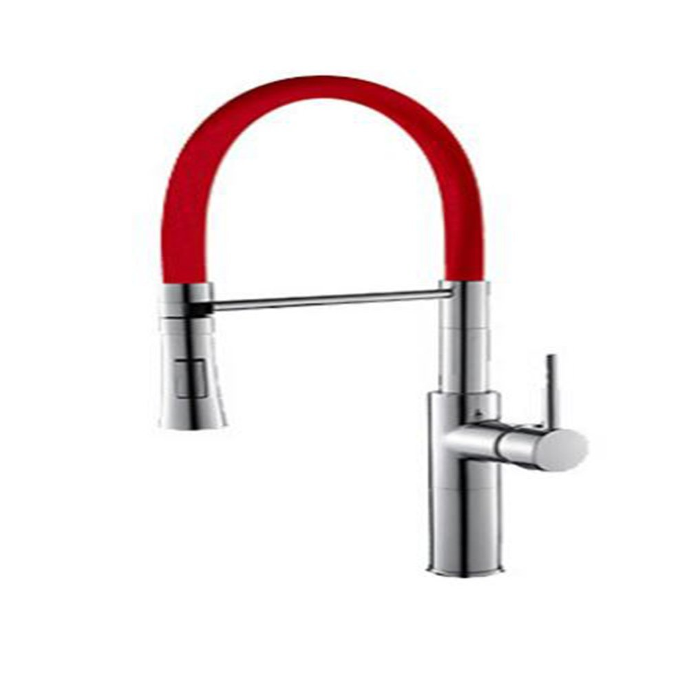 orange CHANG TAP Pull Down Multicolor Kitchen Mixer Healthy Kitchen Faucet Lead Free Sink Tap Kitchen Mixer Tap