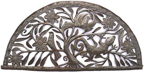 Metal Garden Sculptures,Nature Inspired Gecko s, Handmade in Haiti 34.25 x 16.25 Inches