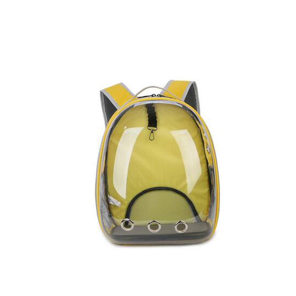 Yellow Outdoor Pet Full Transparent Backpack, Wear-Resistant, Dirt-Resistant and Breathable, Suitable for Dogs, Cats, Small Pets (color   Yellow)