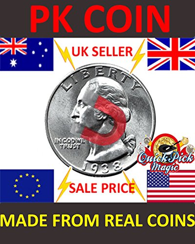 Strong Magnetic US Quarter Dollar Magic Trick Coin / 25 Cent Magnetic PK Coin Magic Trick ()
