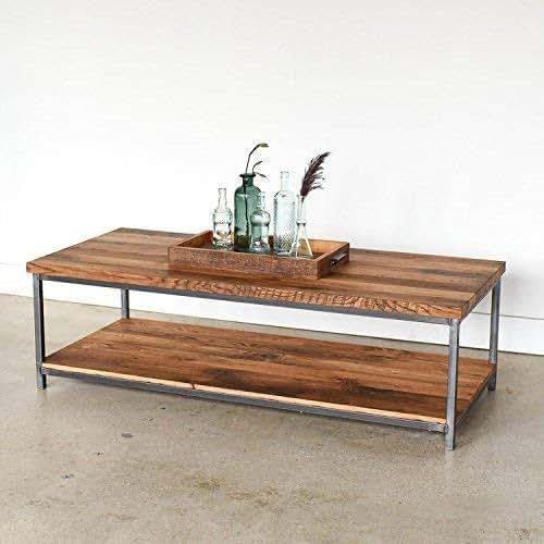 Reclaimed Wood Coffee Table Amazon: Amazon.com: Stoic Reclaimed Wood Coffee Table/Lower Shelf
