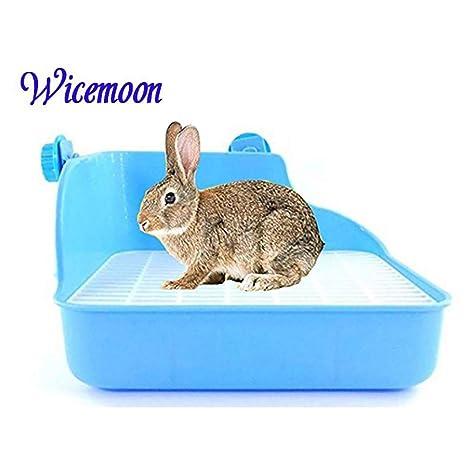 Wicemoon Aseo Limpio Para Conejos Con Doble Rejilla Para Limpieza ...