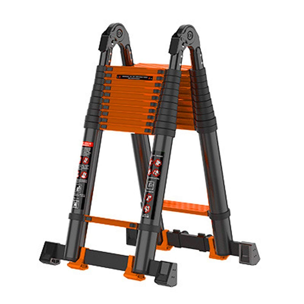 Dygzh Extension Ladder Aluminum Folding Telescopic Extension Ladders are Easy to Transport to Work in Your Home Or Backyard Multi-Function Extension Ladder (Color : A, Size : 3.8M) by Dygzh