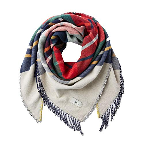 Joules Women's Wilstow Triangle Scarf - Brown Check
