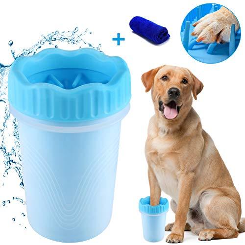 Limpiador de Huellas de Perro,Limpiador de Patas de Perro,Lavadora de pies de Perro,Taza de Limpieza para Mascotas,Limpiador de Patas para Perro Gato,Taza de pie para Mascotas