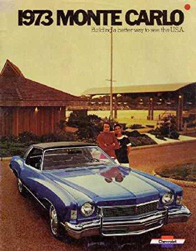1973 Chevrolet Monte Carlo Sales Brochure Literature Book Piece Specs Options