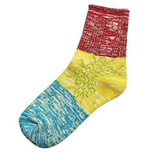 Sagton Womens Thick Warm Socks Winter Fashion Boot Socks Red Rhb9roWwVV