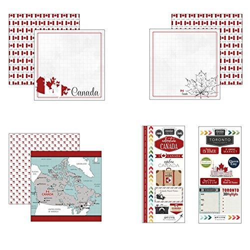 Scrapbook Customs Canada Adventure Scrapbook - Canada Stickers Scrapbook