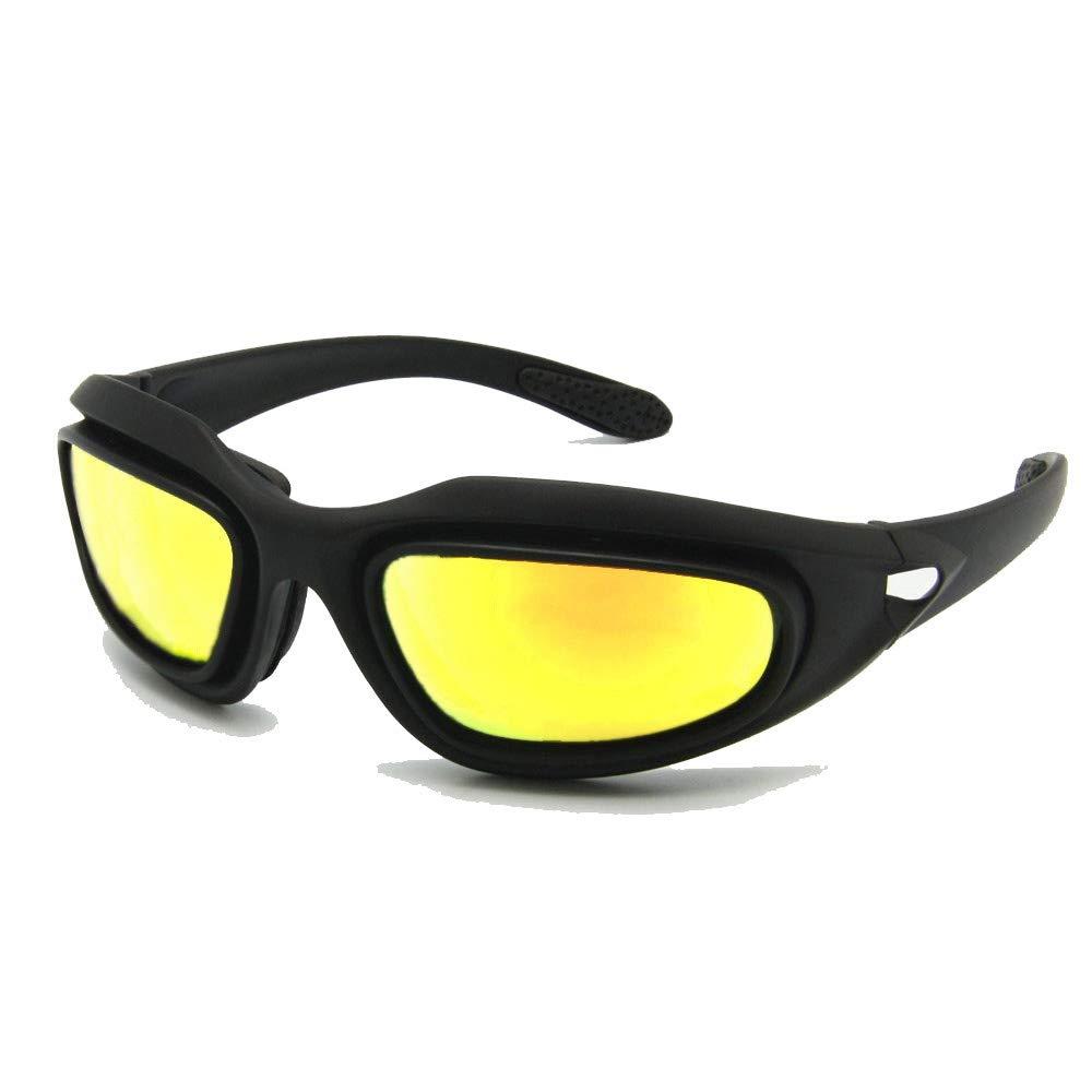 Daisy C5 ejército gafas polarizado Kit de lente 4, juego de guerra de militares gafas de sol de deportes al aire libre motociclismo bicicleta para hombres (No polarizada) EnzoDate