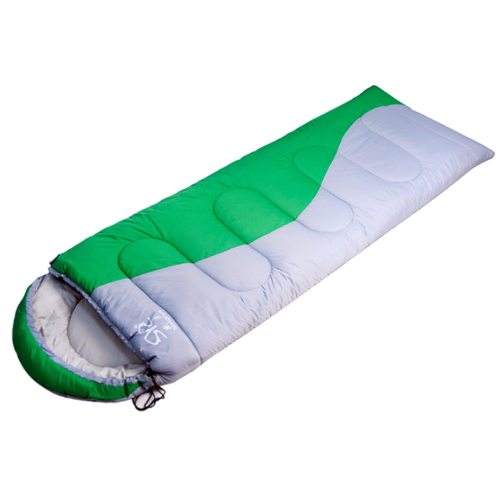 秋と冬厚手暖かいSleepingバッグ/キャンプSleepingバッグCanはスプライス/ Single sleepingバッグOutdoors B0713QK41V  グリーン