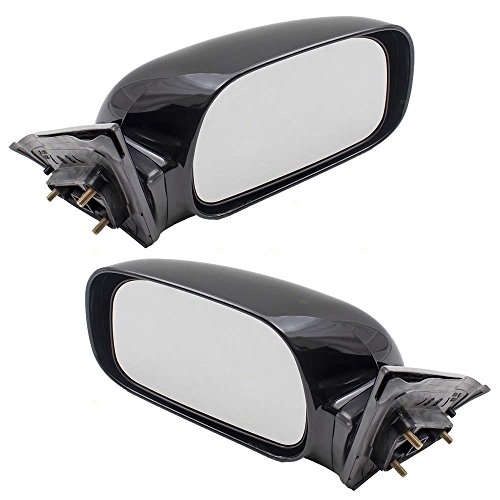 (Pair Set Power Side View Mirrors with Adapters Replacement for 02-06 Toyota Camry USA Japan 87940AA080C0 8791033500C0)
