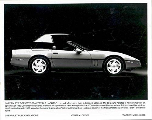 1989 Chevrolet Corvette Factory Photo