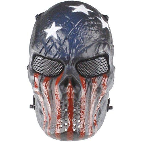 [YX New Emirates M06 Predator Mask, Full Face Scary Skull Skeleton Airsoft/BB Gun/CS Full Face Protect] (Scary Christmas Clowns)