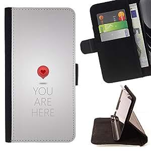 Momo Phone Case / Flip Funda de Cuero Case Cover - Te Amo Corazón Clever Dise?o del texto minimalista - HTC One A9