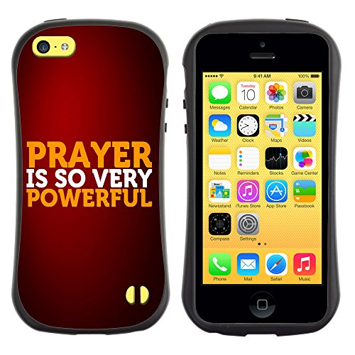 DREAMCASE Citation de Bible Silicone et Rigide Coque Protection Image Etui solide Housse T¨¦l¨¦phone Case Pour APPLE IPHONE 5C - PRAYER IS SO VERY POWERFUL