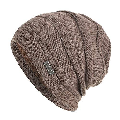 Chunky Soft Stretch Cable Knit Warm Lined Skully Beanie Hats Unisex Afterso ()