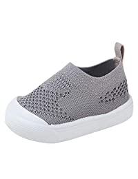 Kuner Toddler Baby Boys Girls Shoes Cotton Knitting Breathable Soft Rubbler Sole Outdoor Sneakers First Walkers
