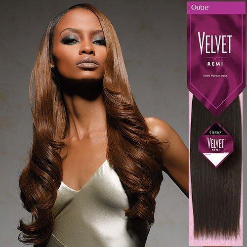 (OUTRE Velvet Yaki Remi Human Hair Weave 10S