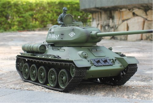 2.4Ghz 1/16 Scale Radio Remote Control Russian T-34/85 RC Air Soft RC Battle Tank Smoke & Sound