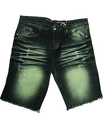 Parish Nation N05D6683 Denim Jean Shorts (44, Dark Stone