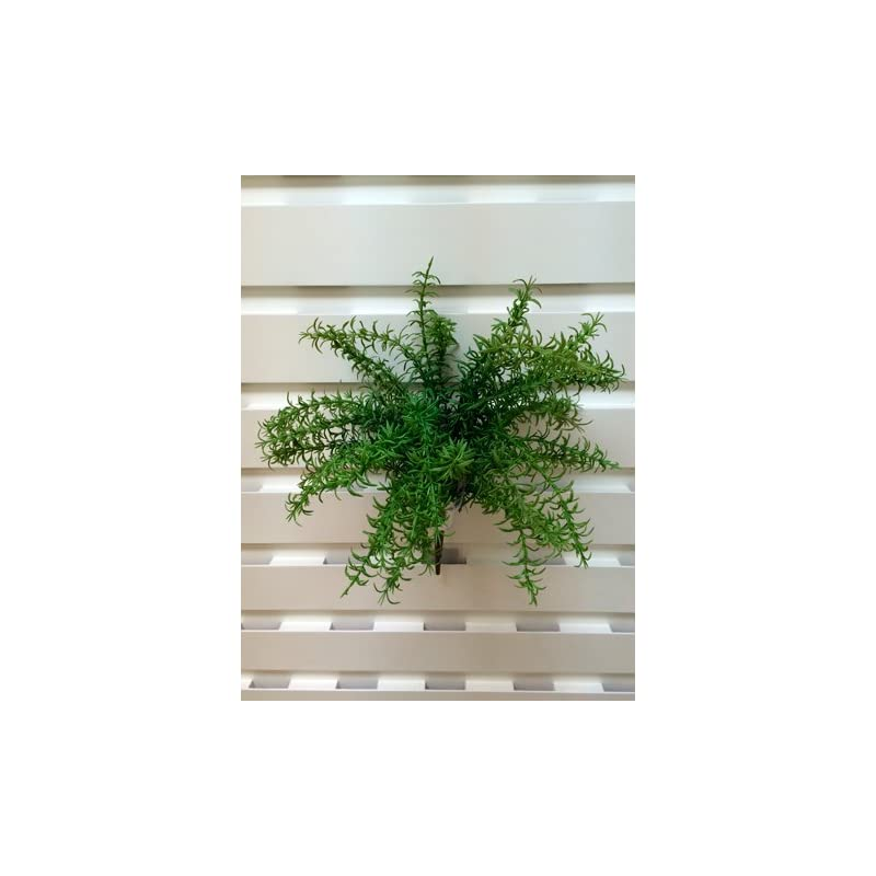 "silk flower arrangements 19"" uv protected rosemary bush green (pack of 12)"
