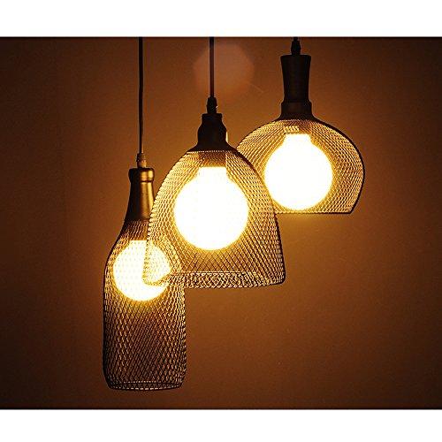 Pendant Light, MKLOT Ecopower Edison Minimal Vintage Retro Industrial style Wide Wrought Iron Single Head Cage NET Explosion Proof Lamp Chandelier Lighting Fixture - Proof Bell Explosion