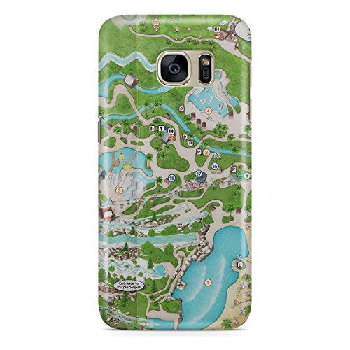 Queen of Cases Hard Shell Phone Case - Blizzard Beach - Blizzard Beach Map Disney