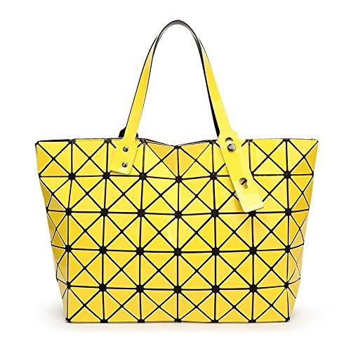 Bolsa yellow Plegable Geométrica Meoaeo Rosa Diamante wHnxqvC4S