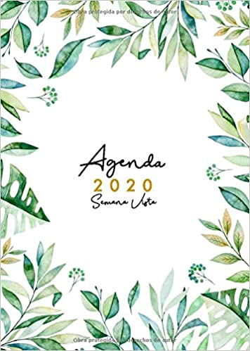 Agenda 2020 Semana Vista: Agenda 2020 12 meses A5 - Organiza ...