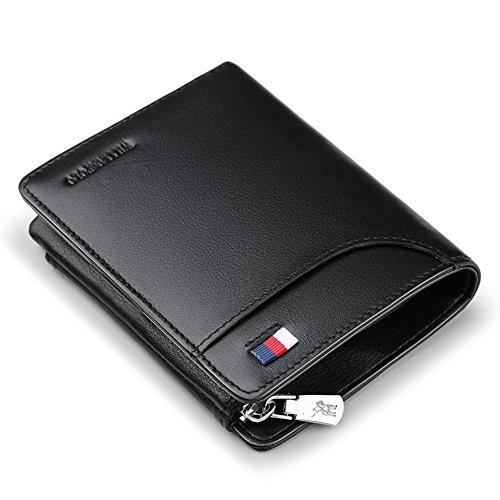 Rfid Blocking Genuine Leather Wallet Men Credit Card Case Excellent Trip Portfolios Protector Money-b 13 * 10cm (5x4inch) To