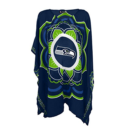 NFL Seattle Seahawks Womens NFL Caftan, Lime Green, One Size Fits Most