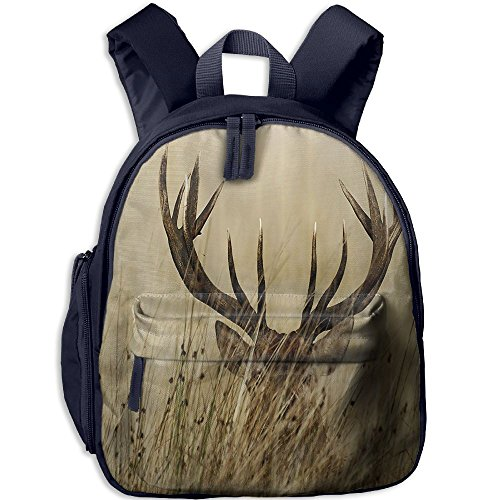 Backpack, School Backpack For Boys Girls Cute Fashion Mini Toddler Canvas Backpack, Whitetail Deer Fawn In (Fawn Canvas)