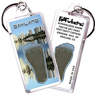 """product image for Oakland """"FootWhere"""" Souvenir Keychain. Made in USA (OAK106 - Cityscape)"""
