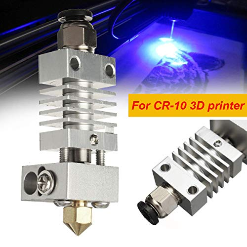 3D Printer - 0.4mm Aluminum Alloy Upgrade CR10 Extruder Titanium Alloy Heater Break 1.75MM for CR-10 Printer High Temperature