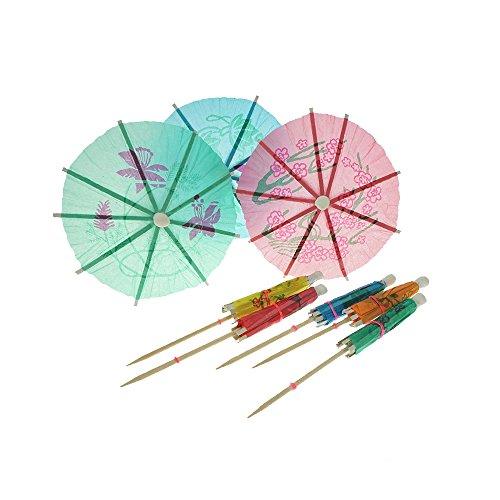 (Bilipala Colorful Paper Umbrellas, Cocktail Parasol Picks Cupcake Toppers Picks,Pack of)