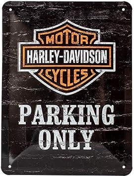 Harley-Davidson Parking Only Motorcycles Badge Medium 3D Metal Embossed Sign