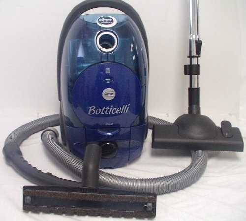 Emer Botticelli Dual Bag or Bagless Canister 1400 watts Hepa Canister Vacuum Blue – Corded