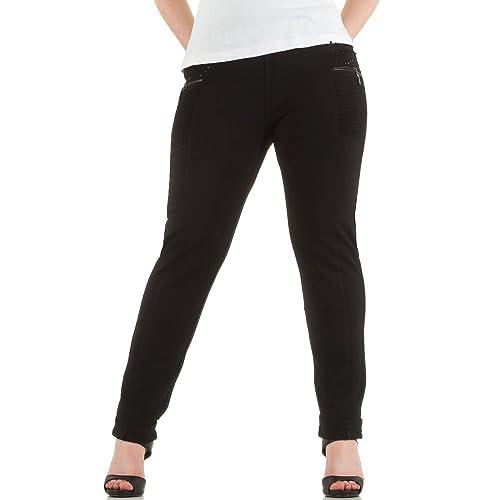 Ital-Design - Pantalón - para mujer negro XL/44